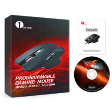 4000DPI Optical Wired Programmable Gaming Mouse Avago A3050 Chip 1.6M USB Cable