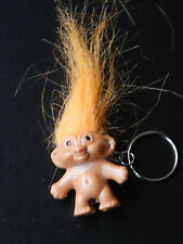 Orange Haired LUCKY TROLL DOLL KEYRING/ PENCIL TOPPER NEW