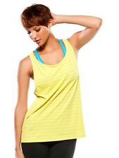 Women's Oakley Muscle Girl Tank Top Sleeveless Shirt Limeade Yellow Size Medium