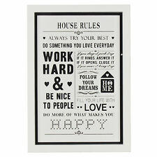 House Rules Glass Wall Plaque 57123