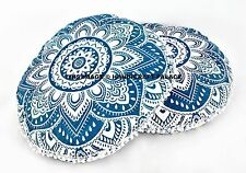 2 PC Indian Ombre Mandala Pillow Meditation Round Floor Cushion Cover Ottoman