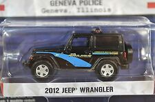 Jeep Wrangler 2012 Ginebra mal policía Hot Pursuit 15 Greenlight 42720 1:64