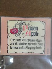 WDCC Poison Apple sterling silver charm, Snow White Disney,  mint condition.