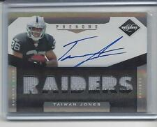 TAIWAN JONES 2011 LIMITED PHENOMS RPA 2 COLOR JUMBO PATCH AUTO RC #D 251/299