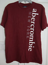 Abercrombie & Fitch 1892 Boys Short Sleeve T Shirt Top Red Size L Large js