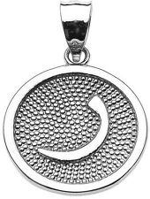 """Sterling Silver Arabic Letter """" raa """" r Initial Charm Pendant"""