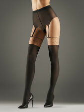 Wolford Daphne Pantyhose Tights Medium Sahara/Black 14475 - 17
