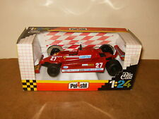 POLISTIL 1/24 ( SN 51 ) F1 FERRARI 126 CK TURBO (#27 VILLENEUVE) 80's - with box