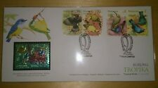 Royal Selangor Premier Niobium Pewter Stamp FDC - 2002 Tropical Birds