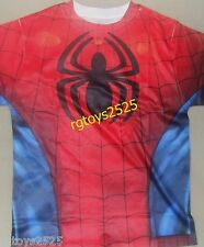 Marvel SPIDERMAN Costume t-Shirt Size 10-12 L New Childs two sided graphic tee