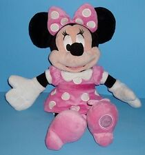 Adorable Disney Store Exclusive Plush Minnie Mouse Pink Polka Dot Dress Bow 18in