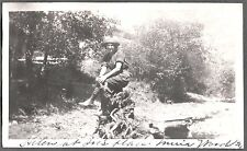 1921 MUIR WOODS CALIFORNIA SAN FRANCISCO GIRL TREE STUMP ROOTS JOE'S PLACE PHOTO