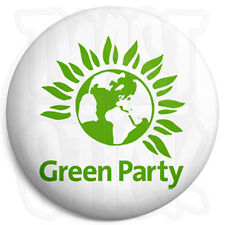 Green Party Logo - 25mm Button Badge - General Election Political Party Support