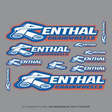 SKU2001 - Renthal Chainwheel Stickers - Set Of 11 Individual Motorcycle Stickers
