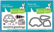 Lawn Fawn Clear Stamp & Die Combo ~ HOME FOR THE HOLIDAYS ~ LF1220, LF1221