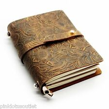 Leather Notebook Journal Diary Blank Vintage Retro Classic Sketchbook Pages