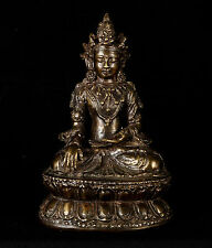Antique Style Chinese Amithaba Yongle Enlightenment Buddha Statue - 19cm/8""