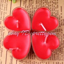 WEDDING FAVOR CHRISTMAS DAY PARTY CREATIVE GIFT RED HEART SMOKELESS CANDLE 5 PCS