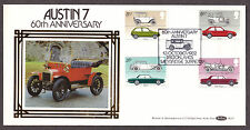 1982 BRITISH MOTOR CARS SET OF 4 ON BENHAM BLS7 FDC SP/HS
