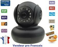 Camera Wanscam Sans Fil Wireless WiFi IP IR Nightvision Dual Audio Webcam Noir