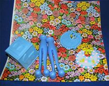 VTG 1960'S BABY SHOWER GIFT WRAP PAPER W 5 PLASTIC PACKAGE - TABLE DECORATIONS