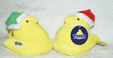 PEEPS Marshmallow Candy PLUSH Christmas Santa Hat CHICK red green yellow lot NEW