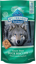 Blue Buffalo Wilderness Trail Treats Duck Biscuits Grain-Free Dog Treats, 10-oz