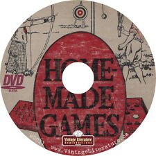 Homemade Games & Equipment {1923 Antique Game & Sports Equipment Plans} on DVD