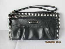 RELIC Wristlet WALLET Heidi Black & White Polka Dots NWT holds phone Strap CUTE!