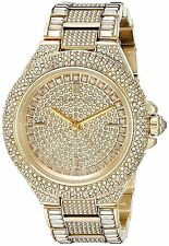 NEW Michael Kors MK5720 Women's Camille Gold Pave Quartz Stainless Steel Watch