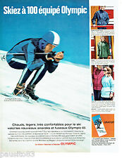 PUBLICITE ADVERTISING 036  1964  Olympic anorak fuseau de ski Chales Bozon