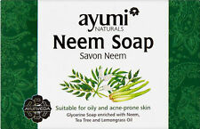 Ayuuri Natural Ayurvedic Neem Skin Care Soap 100g- For Oily and Acne Prone Skin