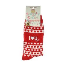 Boofle Snuggly Fluffy Ladies Socks I Love You UK Size 4 - 7 Valentines Day Gift