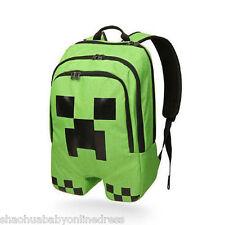 Minecraft Backpack Creeper School Sport Bag Boys Green Rucksack Christmas Gift10