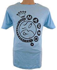Mambo T-Shirt Mens Medium Globe Light Blue - HALF PRICE