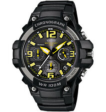 Casio MCW100H-9AV, Chronograph Watch, Black Resin Band, 100 Meter WR, Date