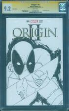 Deadpool vs Wolverine 155 Original art Sketch Cover swipe CGC SS 9.2 Origin II