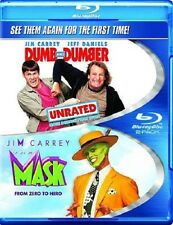 DUMB AND DUMBER THE MASK NEW BLU RAY MOVIE 2 DISC SET FILM COMEDY JIM CARREY