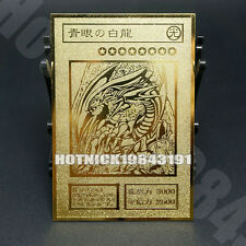 BLUE-EYES WHITE DRAGON Yugioh Custom Made Metal Card Golden Cards new