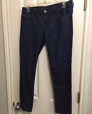 BU Malibu Cotton Bledn Dark Blue Skinny Stretch Jeans SZ 7 Low rise Juniors