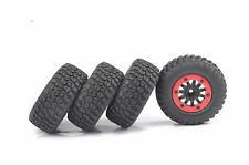 4Pcs Bead-Lock 1:10 Short Course Truck Tires&Wheel Rim For RC TRAXXAS Slash Car