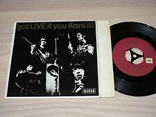 "THE ROLLING STONES 7"" EP SINGLE - GOT LIVE IF YOU / GERMAN DECCA FÜLLSCHRIFT VG+"