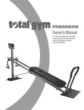 Total Gym Premiere Owners Manual Guide For Fitness Exercise System Equipment
