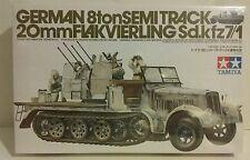 Tamiya 1/35 scale German 8ton Sd.kfz.7/1 Halftrack, with 20mm Flakvierling.