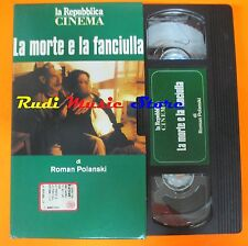 film VHS LA MORTE E LA FANCIULLA R. Polanski REPUBBLICA  CARTONATA (F27)  no dvd
