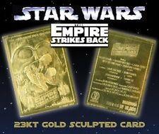 """STAR WARS """"EMPIRE STRIKES BACK"""" 23K GOLD CARD LIMITED EDITION OF 10000"""