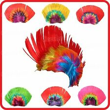 1970'S 1980'S FUNKY PUNK ROCKER MOHAWK MOHICAN STYLE RAINBOW WIG-PARTY-COSTUME