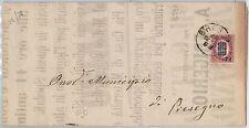 ITALIA REGNO storia postale - 1878 - MANIFESTO di BRESCIA