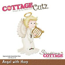 Cottage Cutz muere - 3D Cutting Die Ángel con arpa-CC-024 ~ reducido *