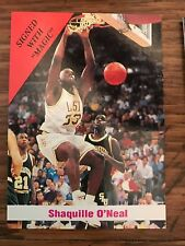 1992 Sports Stars USA Shaquille O'Neal Los Angeles Lakers Signed With Magic